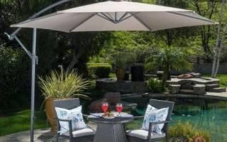 Для чего нужен садовый зонт